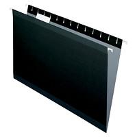Dossiers suspendus renforcés de haute qualité Pendaflex, noir, format légal, boîte de 25