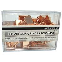 Merangue Binder Clips, Rose Gold, 3/4