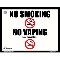 NO SMOKE NO VAPE 15X20CM