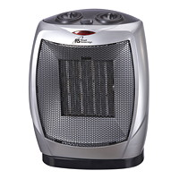 Royal Sovereign HCE-160 Oscillating Ceramic Heater, 2 Heat Settings, Silver/Grey