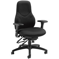 Global Tritek High-Back Multi-Tilter Ergonomic Chair, Standard Seat, Black, Echo Fabric