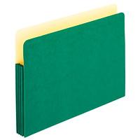 Pochettes de classement extensibles de couleur Pendaflex, vert, format légal, extension de 31/2po, boîte de 25