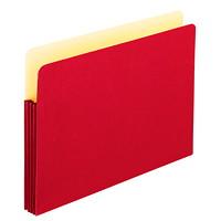 Pochettes de classement extensibles de couleur Pendaflex, rouge, format légal, extension de 31/2po, boîte de 25