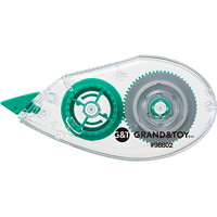 Grand & Toy Correction Tape, Top Application, 2/PK
