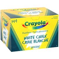 Craie sans poussière Crayola, blanc, boîte de 144