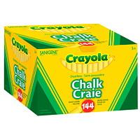 Crayola Dustless Chalk, Yellow, 144/BX