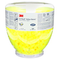 3M E-A-R Classic One Touch Ear Plug Refill, Neon Yellow, 500/PK, 4 Packages/CT