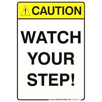 WATCH YOUR STEP STICKER 7X10