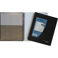 Cambridge Hardcover Lined Notebook, Black, 9 1/2