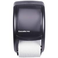 Cascades PRO Universal Standard Toilet Paper Dispenser, Double Roll, Grey