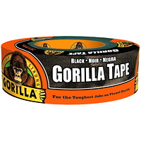 Gorilla Duct Tape, Black, 48 mm x 22.8 m