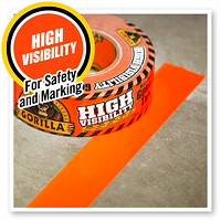 Gorilla High Visibility Duct Tape, Blaze Orange, 48 mm x 22.8 m