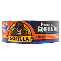 Gorilla Permanent All-Weather Duct Tape, Black, 48 mm x 22.8 m