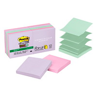 Post-it Super Sticky Pop-Up Notes in Bali Collection Colours, Unlined, 3