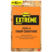 Post-it Extreme XL Notes, Orange and Yellow, 4 1/2