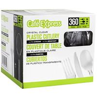 Couverts variés Café Express, ultratransparent, emb. de 360