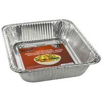Titan Aluminum Foil Deep Steam Pans, 1/2 Size, 2/PK, 24 Packages/CT