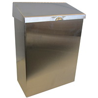 Hospeco Feminine Hygiene Metal Waste Receptacle, Stainless Steel - Only available in British Columbia