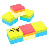 Post-it Original Note Cube in Assorted Colours, Canary Wave and Green Wave, 2