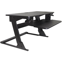 Offices To Go Height-Adjustable Desktop Sit-to-Stand Workstation, Black