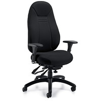 Global ObusForme Comfort High-Back Multi-Tilter Chair, With Schukra, Black, Echo Fabric