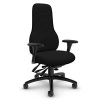 Global Tritek Executive High-Back Multi-Tilter Ergonomic Chair, Generous Seat, Black, Echo Fabric