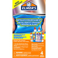 Elmer's Metallic and Colour Slime Kit, Blue Chrome