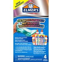 Trousse de slime à paillettes bleu glacé Elmer's, bleu et argent