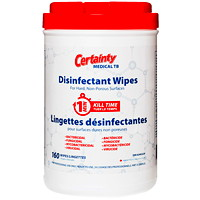 Certainty Medical TB Disinfectant Wipes, 160 Wipes/Canister