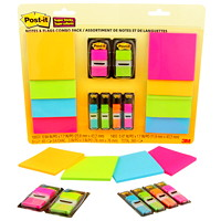 Post-it Super Sticky Notes and Flags Combo Pack