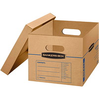 Bankers Box SmoothMove Classic Storage Boxes, Small, 12 1/2