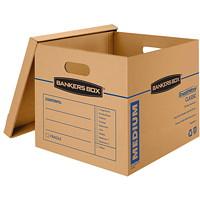 Boîtes de rangement classiques SmoothMove Bankers Box, moyen format, 151/2poL x 19poP x 141/2poH, caisse de 8