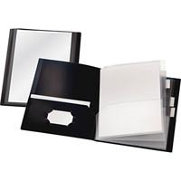 Cardinal ReportPro 10-Pocket Project Organizer, Black, Letter Size