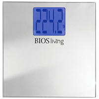 Pèse-personne numérique à très grand affichage avec plateforme en verre trempé BIOS Living