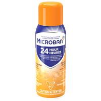 Microban 24-Hour Sanitizing Aerosol Spray, Citrus Scent, 354 g