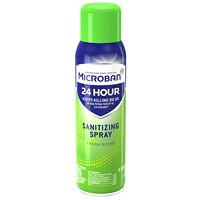 Microban 24-Hour Sanitizing Aerosol Spray, Fresh Scent, 354 g