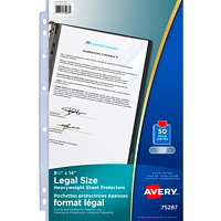 Avery Sheet Protectors, Clear, Legal Size, 50/PK