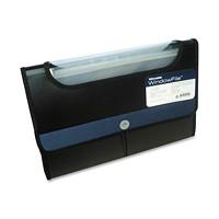 Winnable WindowFile 13-Pocket Expanding Poly File, Black/Blue, Legal Size