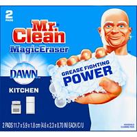 Mr. Clean Magic Eraser, Kitchen Scrubber with Dawn, 2 Pads/PK
