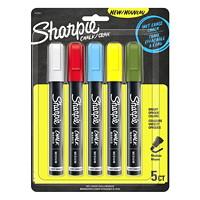 Sharpie Wet-Erase Chalk Markers, Assorted Standard Colours, Medium, 5/PK