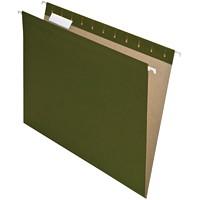 Dossiers suspendus recyclés Earthwise Pendaflex, vert, onglets 1/5, format lettre, boîte de 25