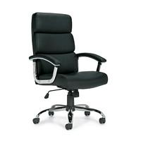 Global Ashton High-Back Tilter Chair, Black, Luxhide Bonded Leather