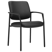 Offices To Go Eor Guest Chair, Black Luxhide Bonded Leather