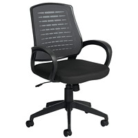 Offices To Go Java High-Back Tilter Chair, With Durable Rear Shroud, Black, Fabric Seat/Mesh Back