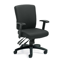 Offices To Go Actin Mid-Back Multi-Tilter Chair, Black Quilt Fabric