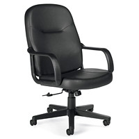 Offices To Go Annapolis High-Back Tilter Office Chair, Black, Luxhide Bonded Leather