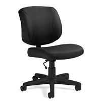 Offices To Go Yoho Armless Task Chair, Ebony Black, Jenny Fabric