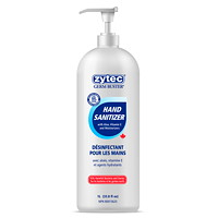 zytec Germ Buster Gel Hand Sanitizer with Aloe, Vitamin E and Moisturizers, 70% Alcohol, Pump Bottle, 1 L