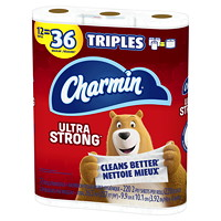 Charmin 2-Ply Ultra Strong Bathroom Tissue 12=36, White, 220 Sheets/Roll, 12/PK