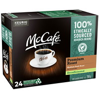 McCafé Premium Coffee K-Cup Pods, Medium Dark Roast, Decaffeinated, 24/BX